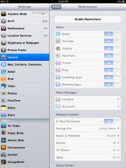Restricting in-app purchases on iPad