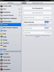 iPad passcode