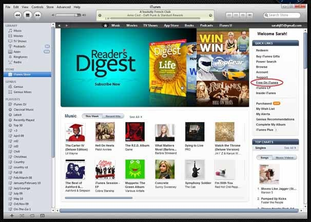 How to Get Free Music From the iTunes Music Store ~ Apple Store