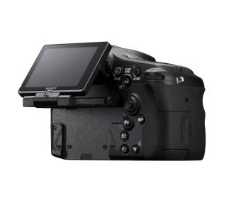 Sony Alpha A77 rear view