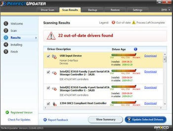 Raxco Software Perfect Updater screenshot