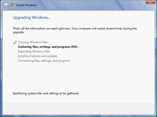 Upgrading Windows 7