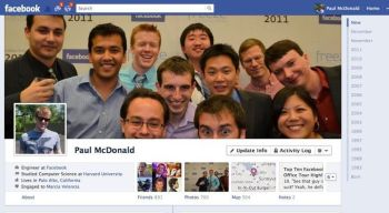 A typical Facebook Timeline cover photo