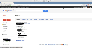 You'll need to set Google Voice to forward calls to Google Chat.