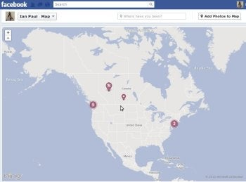 Tag a map in Facebook with location-based references.