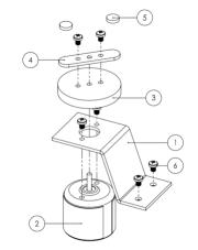 Building the magnetic stirrer's motor bracket.