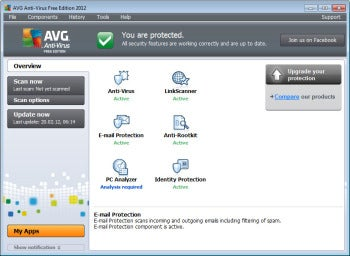 avg antivirus screen