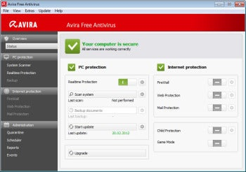 avira screen