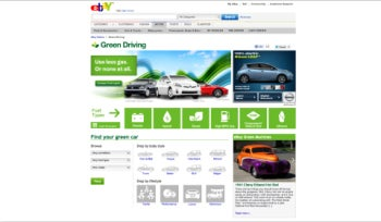 EBay's Green Driving site