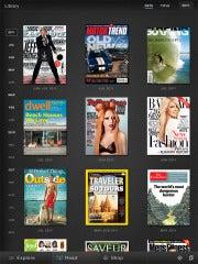 Zinio reading app