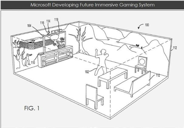 Microsoft developing future immersive gaming system