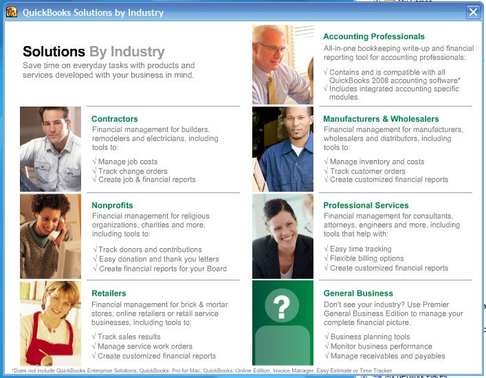 Intuit QuickBooks Pro; click for full-size image.