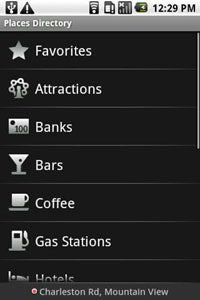 Droid X Apps: Places Directory