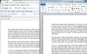 Google Docs (left) and Microsoft Word; click for full-size view.